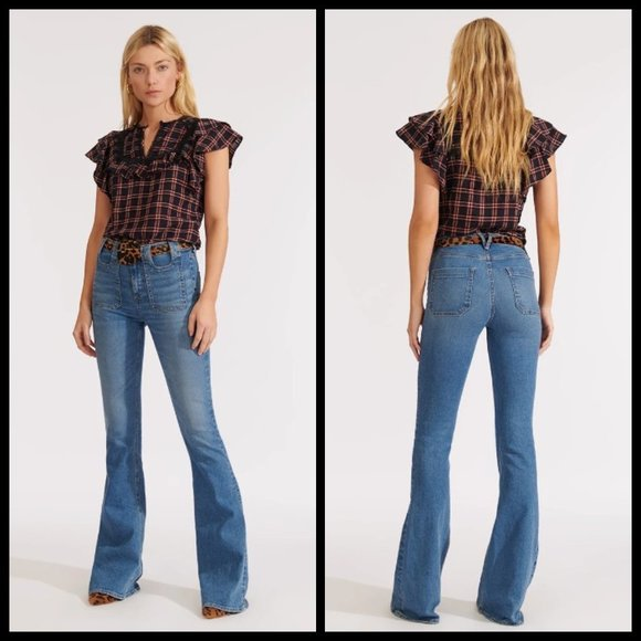 VERONICA BEARD Beverly High Rise Skinny Flare Jean